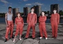Los personajes originales de la serie, entre los que destacan especialmente Nathan (centro) y Simon (derecha)