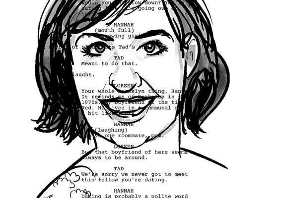 Lena Dunham Screenplay Portrait (Girls). A la venta en https://www.etsy.com/es/listing/216665516/lena-dunham-screenplay-portrait-girls?ref=market