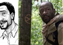 Morgan en el cómic vs Lennie James en la serie