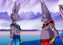 Bills y Champa, los dioses de la destrucción de los universos 7 y 6, respectivamente