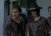 Rick y Carl camuflados