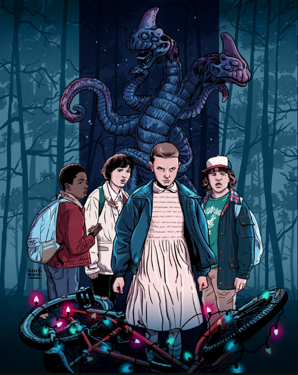 Fan-Art de David M. Buisán (basado en «Stranger Things» 2016)