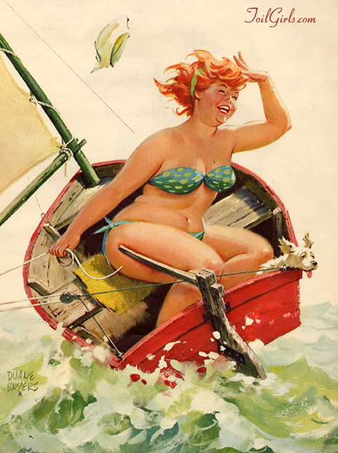 Hilda, dibujada originalmente en la década de 1950 por el ilustrador Duane Bryers