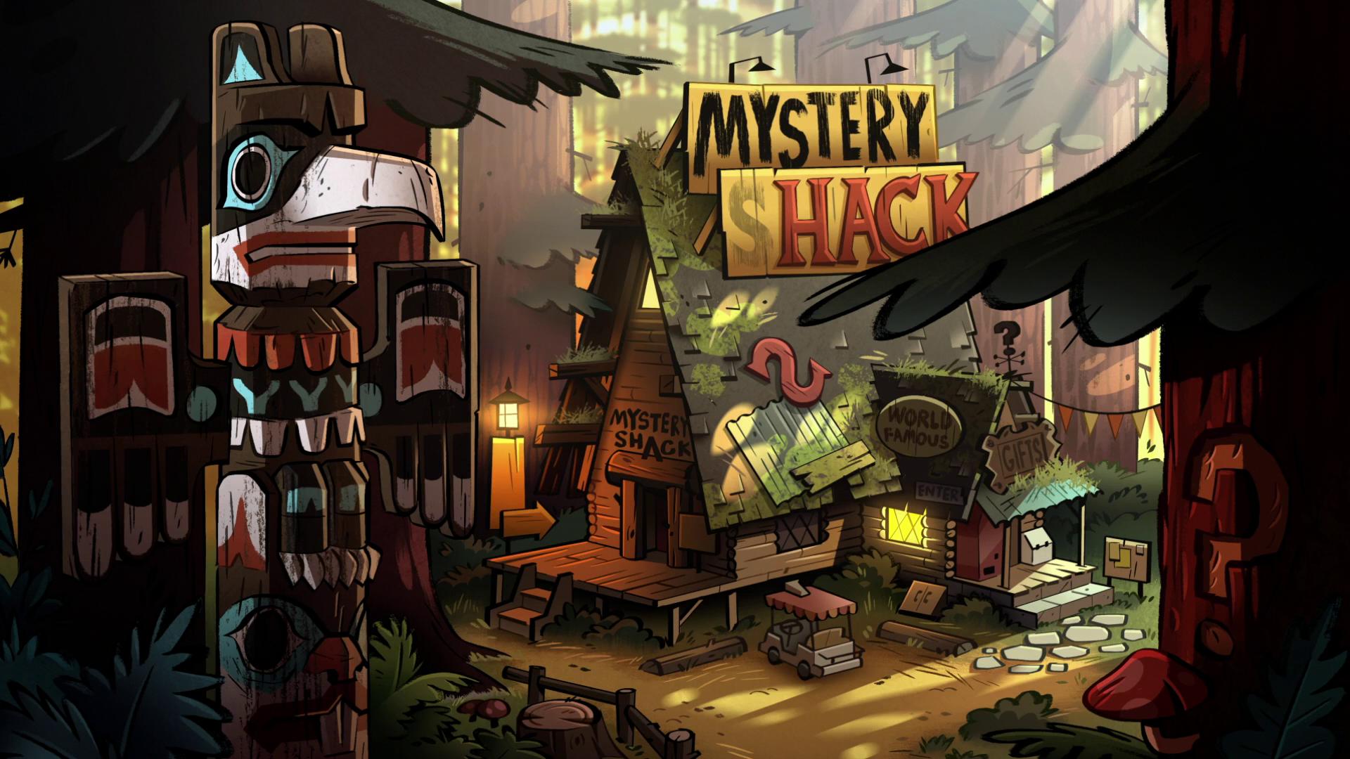 La cabaña del mistério, donde vive el tío abuelo Stan con Mable y Dipper