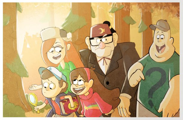 Personajes principales de la serie, fanart realizado por Gabriel Vich