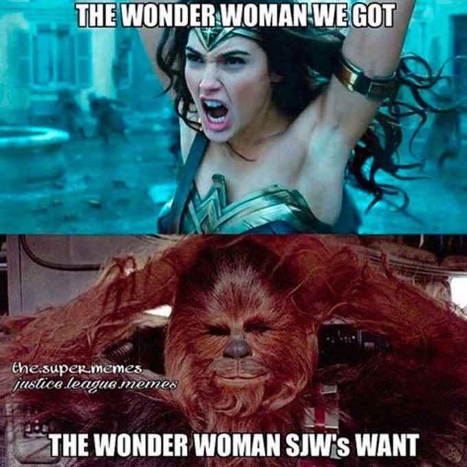 chewbbaca - wonder woman meme
