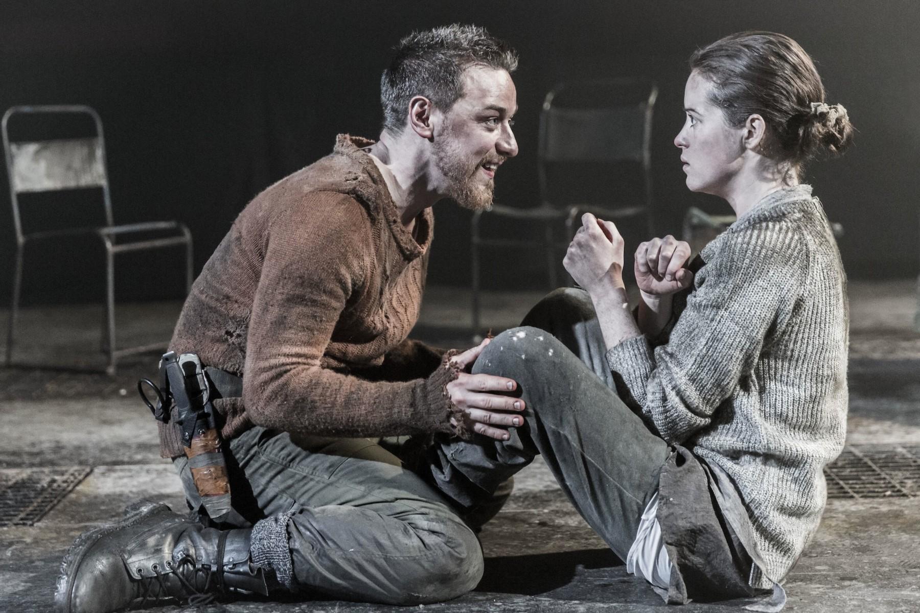 Sobre las tablas junto a James McAvoy en Macbeth