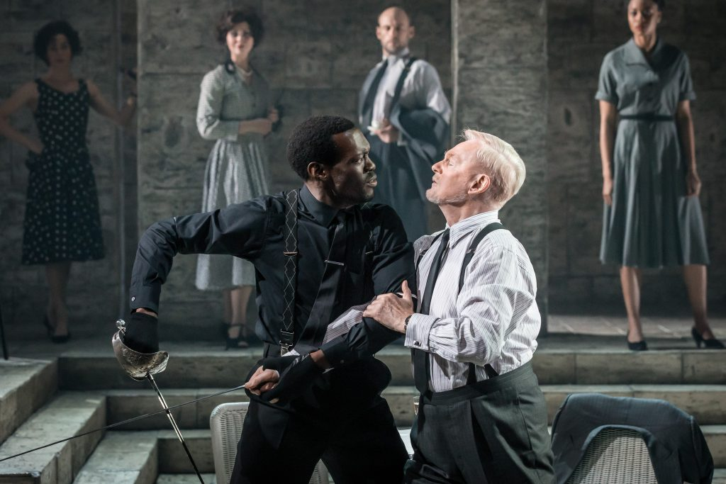 ROMEO AND JULIET by Shakespeare, , Writer - William Shakespeare, Director - Rob Ashford and Kenneth Branagh, Set and Costume Designer - Christopher Oram, Lighting - Howard Hudson, The Garrick Theatre, London, 2016, Credit: Johan Persson
