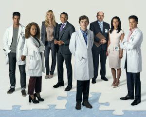 "THE GOOD DOCTOR - ABC's ""The Good Doctor"" stars Chukuma Modu as Dr. Jared Kalu, Antonia Thomas as Dr. Claire Browne, Beau Garrett as Jessica Preston, Hill Harper as Dr. Marcus Andrews, Freddie Highmore as Dr. Shaun Murphy, Richard Schiff as Dr. Aaron Glassman, Tamlyn Tomita as Allegra Aoki and Nicholas Gonzalez as Dr. Neil Melendez. (ABC/Bob D'Amico)"