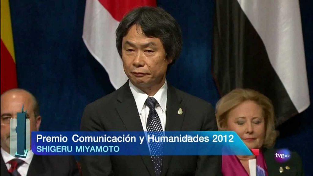 Shigeru Miyamoto recibió el Premio Príncipe de Asturias de Comunicación y Humanidades en 2012.