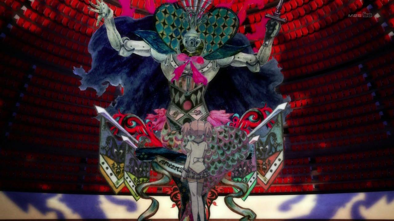 Madoka se adentra en uno de los perturbadores laberintos de las brujas